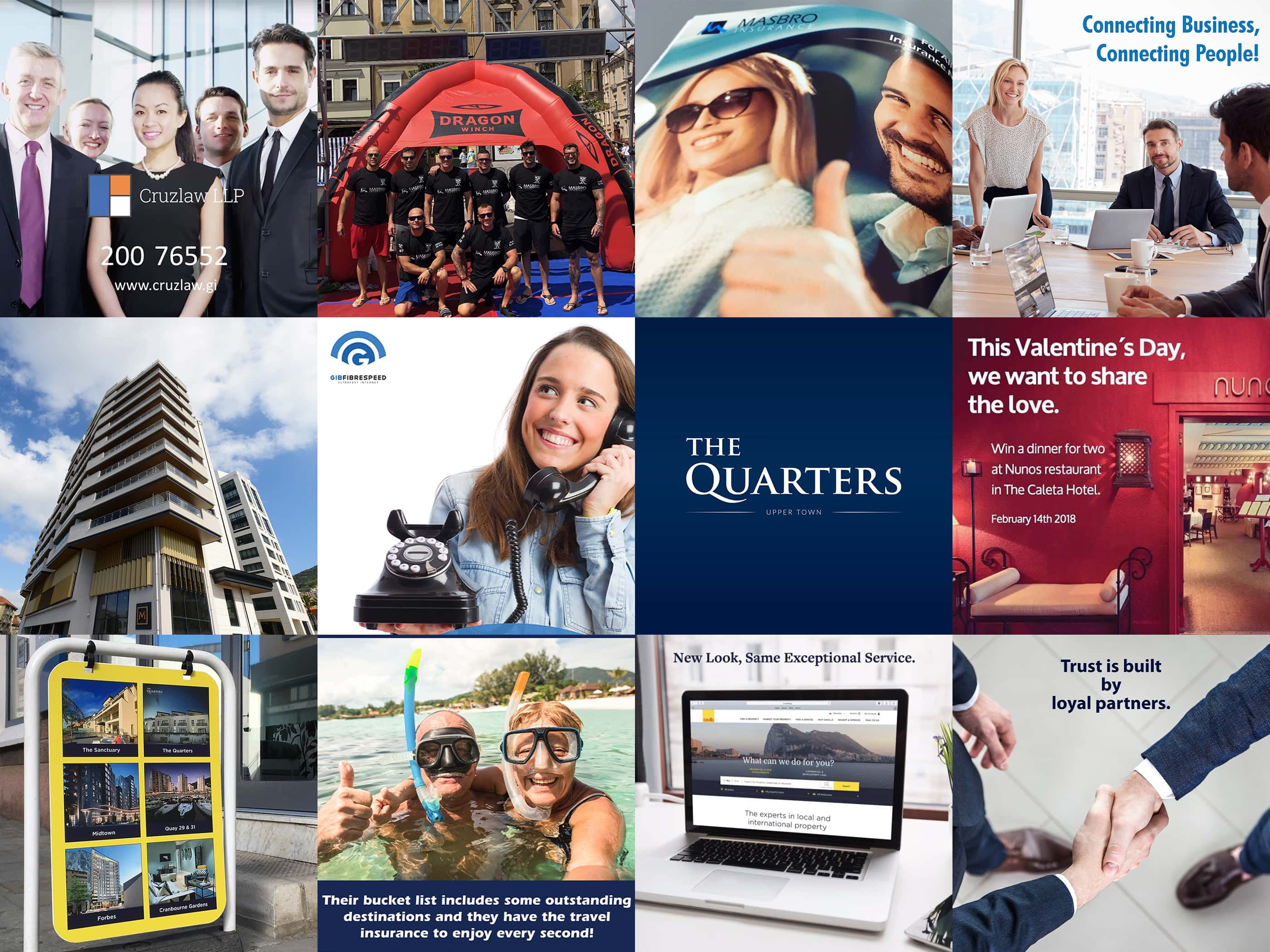 Image grid of work done by Altair Marketing & Design