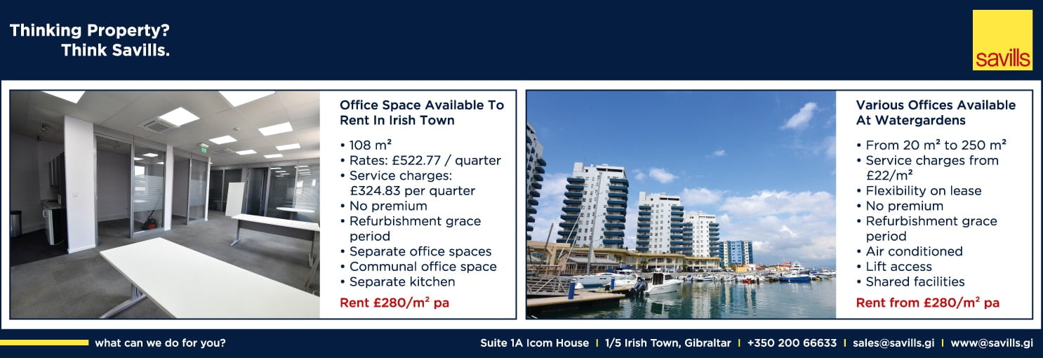 Savills property listings (1) in The Chronicle newspaper, Gibraltar