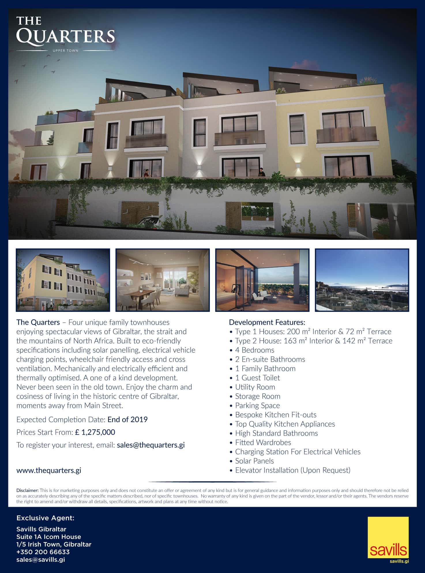 The Quarters full page advert in The Chronicle newspaper, Gibraltar