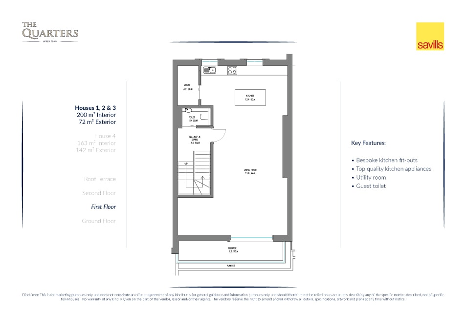 The Quarters house layout drawing 2