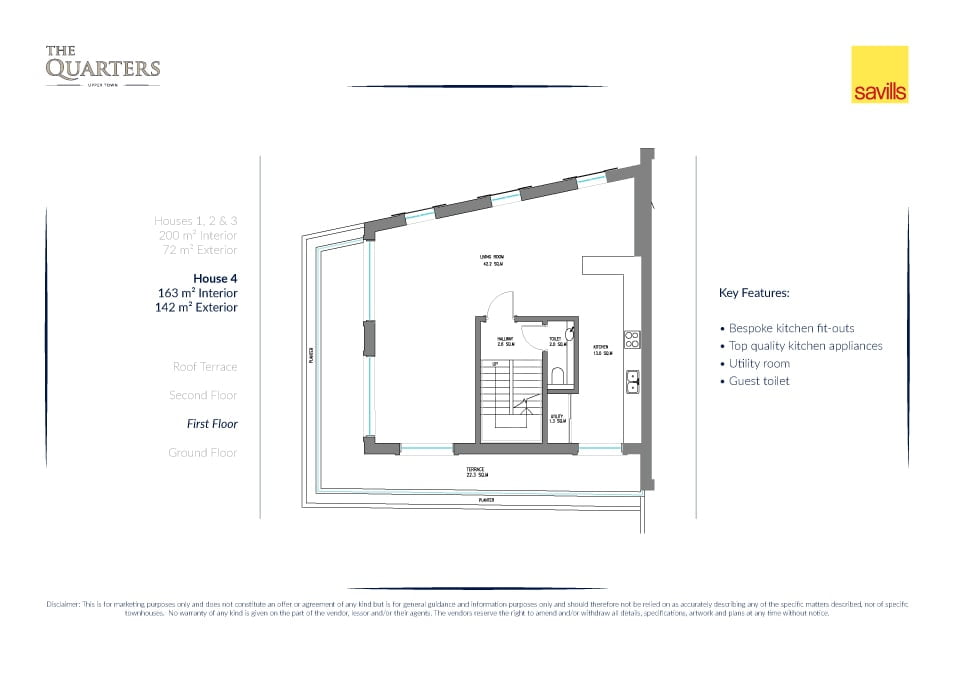 The Quarters house layout drawing 1